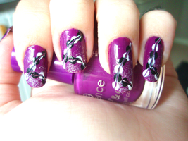 purple nails by NnNiLe