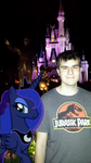 Night time in the Magic Kingdom by maxamissthegladiator