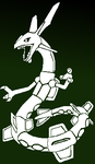 Rayquaza (One color) by Runenkatze