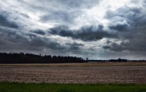 Storm Clouds over Fallow Fields by Dalamar789