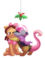 Mistletoe Kisses by Lopoddity