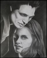 Edward And Bella by Skaughtt