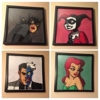 Batman the animated series Perler bead set by Amber--Lynn