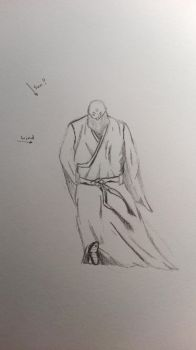Learning to Draw#1 Old Priest by litzard