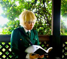 APH Cosplay- Reading. by Jesseine