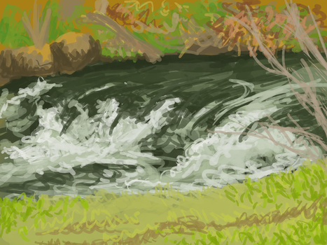 Speedpaint - River by femalefred