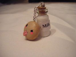Milk and cookie bottle charm by minecraftfox