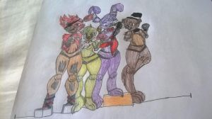 FNAF Characters by Taylorthedog1