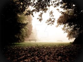 Bench in Mist by ghito