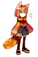 HDD Haruka Latern Fox by Kemohomogeko