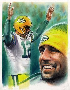 Aaron Rodgers by Reverie-drawingly