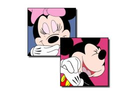 Mickey and Minnie Wallpaper by hermanmunster