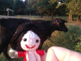 MJ String Doll And Teh Moo Cows :3 by Forever-MJ