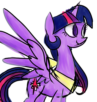 Alicorn Twi by Poison-Joak