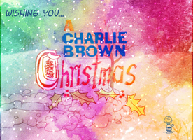 Charlie Brown Christmas Watercolor by Richard67915