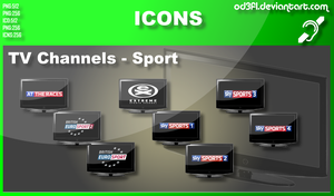 TV Channel Icons - Sports by od3f1