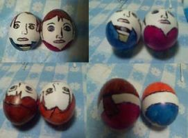Easter Eggs: Steve and Claire by bueatiful-failure
