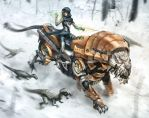 Tiger and Snow by xavor85