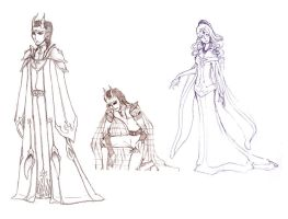 Demon King Sketches by BethanyRoot