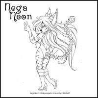 Nega Neon Commission 1 by Yastach