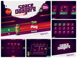 Space Dodgers game by monterxz