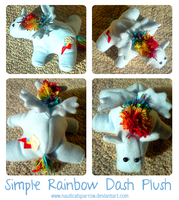 Simple Rainbow Dash Plush by NauticalSparrow