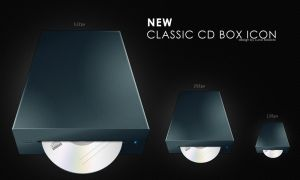 new classic cd box icon by bisiobisio