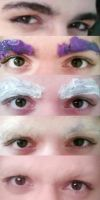 HOW TO COVER THICK EYEBROWS: Cosplay tutorial by NipahCos