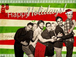 Big Bang Theory Holiday Wallpaper by rubyanjel