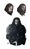 The Hobbit: An Unexpected Journey - Thorin skethes by maXKennedy