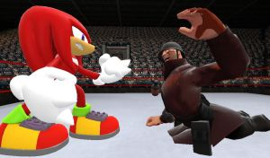 Mobius vs Freaks 2: Knuckles vs Painis Cupcake by SpikeHedgelion8