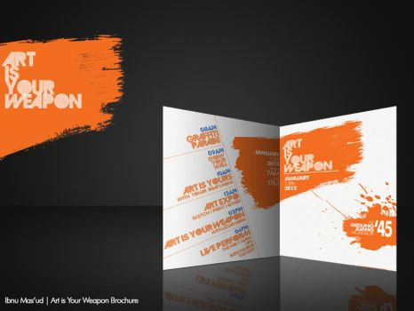 Art is Your Weapon Brochure by maseja