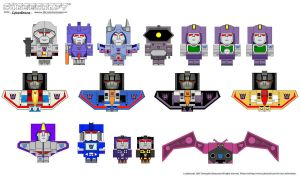 Cubeecraft - G1 Decepticons by CyberDrone