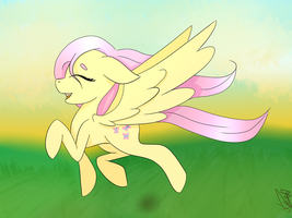 Singing in the sunset - Fluttershy by LavaSoKawaii