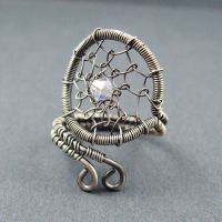 Adjustable Dreamcatcher Ring by sylva