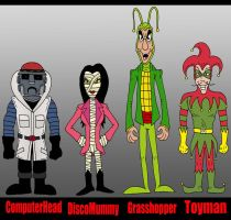 Plastic Man Foes 2 by Lordwormm