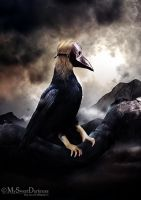 Hybrid - The woman crow by MySweetDarkness
