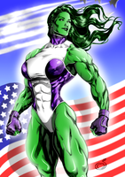 Imposing She-Hulk by WickedBust