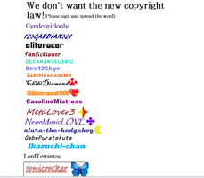 Sign for no go copyright law by sonicrocker