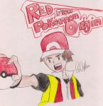 Red from Pokemon Origins and Video Games by DieneckProject