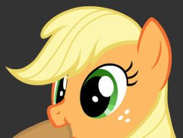 Applejack eating her hat GIF by StoneHot316