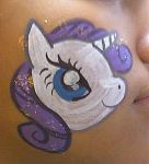 Rarity Face Painting 2 by AlicornLover
