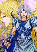 Final Fantasy IV: Cecil Harvey x Rosa Farrell by dagga19