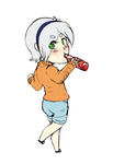 Bloomy chib -commission- by LittleWhiteWolfAngel