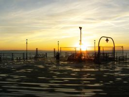 Sunset From Southend Pier by Sarahorsomeone
