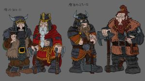 Dwalin, Balin, Oin and Gloin in armour by Mara999