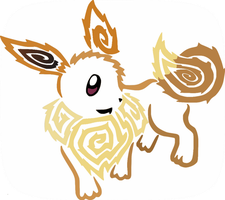 Colored Tribalish Eevee by vaguelygenius