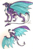 Dragons Travels: Bliz Amethyst Dragon by AlienNocsastarino