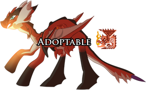 ADOPTABLE - Rathalos MLP version [closed] by MimiPony