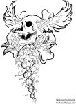 skull with wings by JeremyWorst